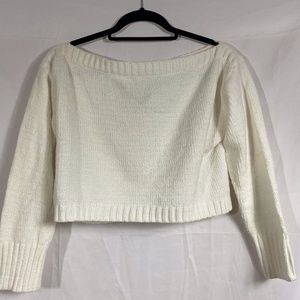 cream forever 21 cropped sweater
